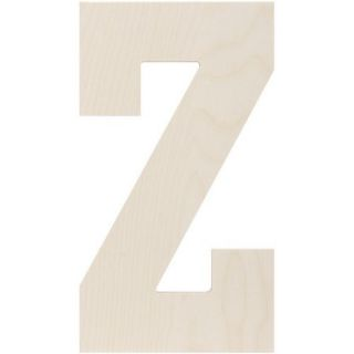 Baltic Birch Collegiate Font Letters & Numbers, 13.5""