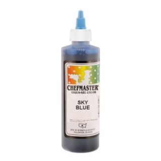 Chefmaster by US Cake Supply 10.5 Ounce Sky Blue Liqua Gel Cake Food Coloring