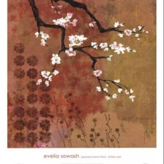 Japanese Branch Floral Poster Print by Evelia Sowash (27 x 30)