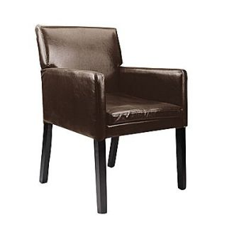 CorLiving™ Antonio Bonded Leather Accent Chair, Dark Brown