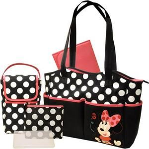 Disney Baby Minnie Mouse Coral Flowers Saunter Sport LC 22 Travel System with Bonus Minnie Diaper Bag