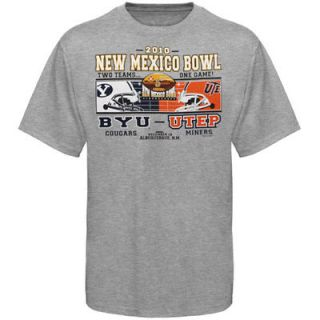 Brigham Young Cougars vs. UTEP Miners Ash 2010 New Mexico Bowl Dueling T shirt
