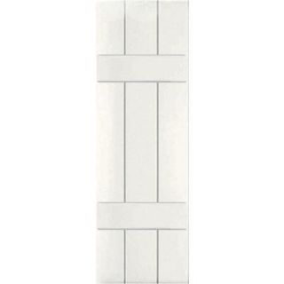 Ekena Millwork 12 in. x 49 in. Exterior Real Wood Western Red Cedar Board and Batten Shutters Pair White RWB12X049WHW