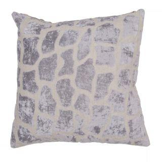Handmade Animal Print Grey 22 inch Throw Pillow   17212260