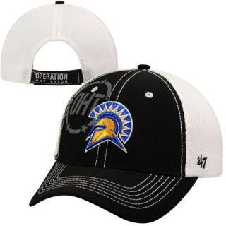 47 Brand San Jose State Spartans Operation Hat Trick Mikita Adjustable Hat   Black/White