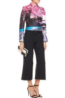 Cropped printed satin twill jacket  Mary Katrantzou