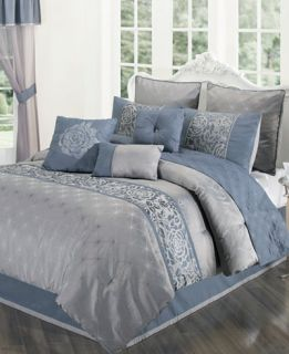Rosamund 22 Piece Queen Comforter Set   Bed in a Bag   Bed