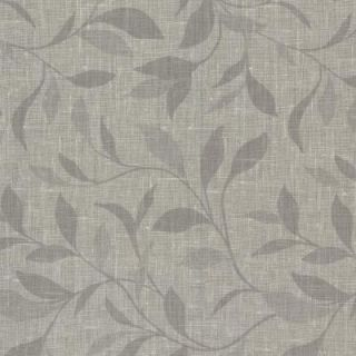 Beyond Basics 60.8 sq. ft. Flora Grey Leaves Wallpaper 420 87132