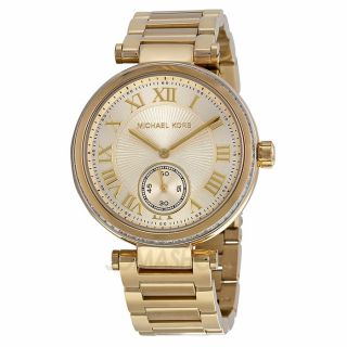 Michael Kors Skylar Champagne Dial Gold tone Ladies Watch MK5867