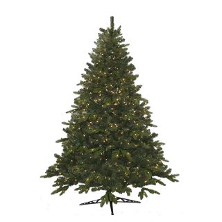 6.5 ft Pre Lit Pine Artificial Christmas Tree with White Incandescent Lights