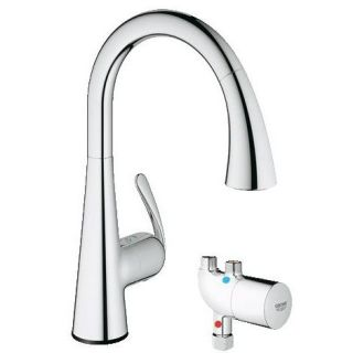Grohe 30226 LadyLux Cafe Touch Pull Down Spray Head Kitchen Faucet with GrohTherm Micro
