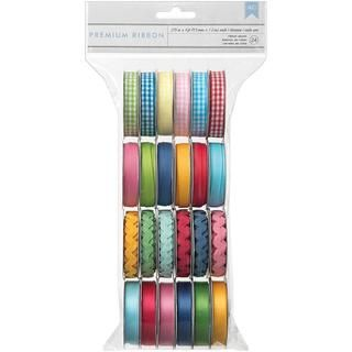 Mayberry Value Pack Premium Ribbon 24/Spools   .375 Wide X 4 Per
