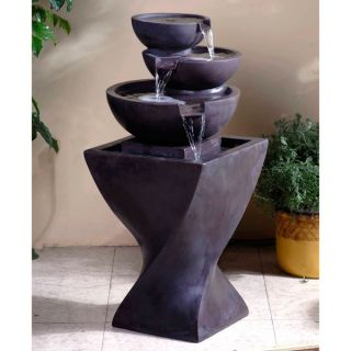 Modern Tiered Bowls Water Fountain   15555946   Shopping