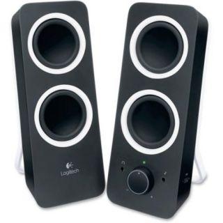 Logitech 2.0 Speaker System   Black   LED Indicator, Volume Control, Bass Control