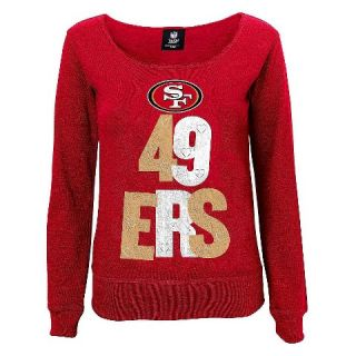 San Francisco 49ers Girls Open Neck Fleece