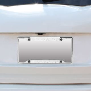 New England Patriots Small Over Small Silver Matte License Plate Frame with Mirror Letters