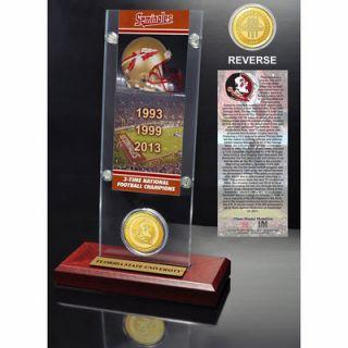 Florida State Seminoles Highland Mint 3 Time Champions Ticket Acrylic