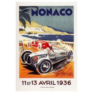22 in. x 32 in. Monaco 13 Avril 1936 Canvas Art V8017 C2232GG