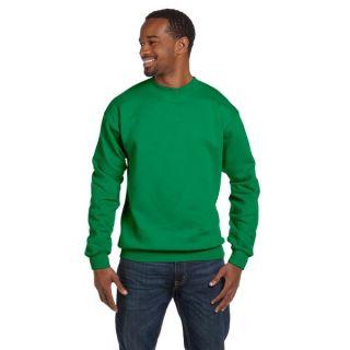 Comfortblend Ecosmart 50/50 Fleece Mens Crew Neck Kelly Green Sweater