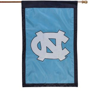 North Carolina Tar Heels (UNC) 28 x 44 Carolina Blue Applique Vertical Banner Flag