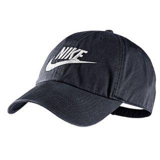 Nike Heritage 86 Futura Logo Strapback Cap   Mens   Casual   Accessories   Obsidian/Obsidian/White
