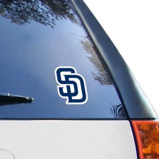 WinCraft San Diego Padres 4 x 4 Color Perfect Cut Decal   Navy Blue