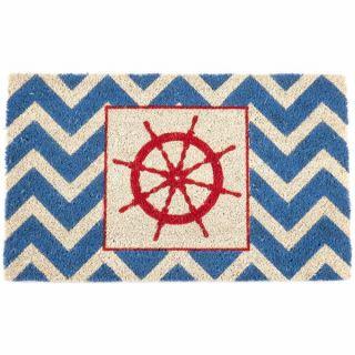 Wheel Non slip Coir Doormat (17 x 28)   16928591