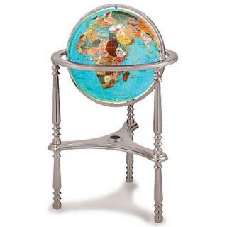 Kalifano GTH430 17 Gemstone Globe with Ambassador 3 Leg High Stand