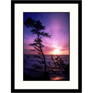 Great American Picture Landscapes 'Crescent City, California, Dusk' by Mark Gibson Framed Photographic Print
