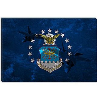 iCanvas Air Force Flag, Raptor Graphic Art on Canvas; 40 H x 60 W x 1.5 D