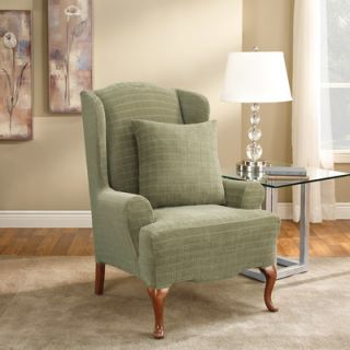Sure Fit Stretch Squares Wing Chair Slipcover
