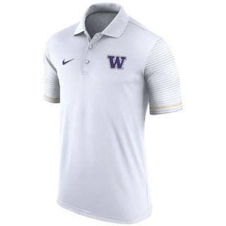 Washington Huskies Nike 2016 Early Season Coaches Performance Polo   White