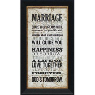 Artistic Reflections Marriage Framed Textual Art