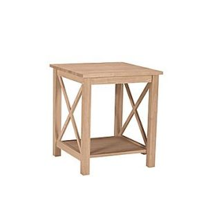 International Concepts 25 x 22 x 22 Wood Hampton End Table, Unfinished