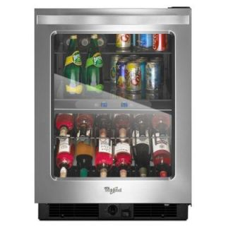 Whirlpool 24 in. Dual Zone 12 Bottle Wine Cooler and Beverage Center WUB50X24EM