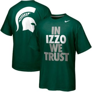 Nike Michigan State Spartans Basketball In Izzo We Trust Campus Roar T Shirt  Green