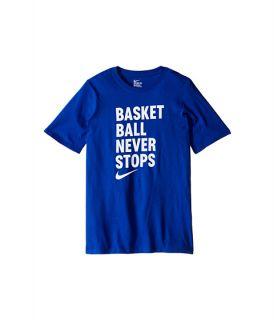 Nike Kids Basketball Never Stops Tee (Little Kids/Big Kids) Game Royal