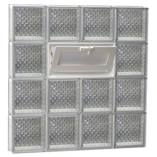 REDI2SET Diamond Pattern Frameless Replacement Glass Block Window (Rough Opening: 34 in x 32 in; Actual: 32.75 in x 31 in)