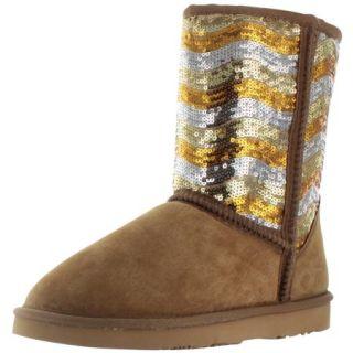 Lamo Women's Faux Sheepskin Sequin Winter Booties Boots