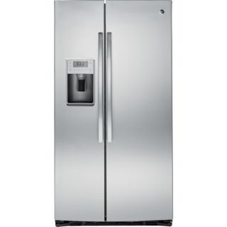 GE Profile 25.4 cu ft Side by Side Refrigerator with Single Ice Maker (Stainless Steel) ENERGY STAR