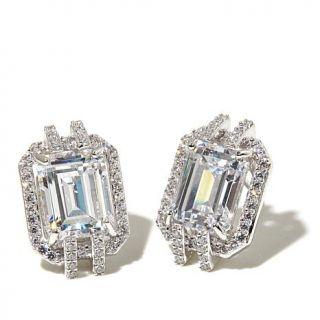 Xavier Absolute™ Emerald Cut Sterling Silver Stud Earrings   7878295