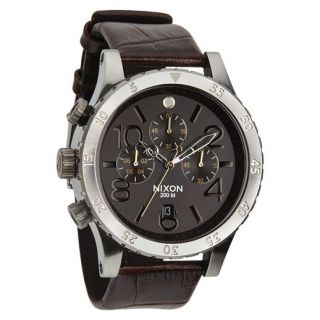 Nixon Brown Gator 48 20 Chrono Leather Watch