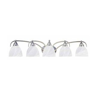 Volume International 5 Light Kora Brushed Nickel Bathroom Vanity Light