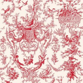 York Wallcoverings 56 sq. ft. Old World Toile Wallpaper AT4238
