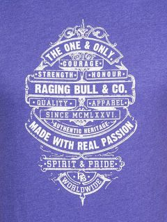 Raging Bull The One & Only T/shirt Purple