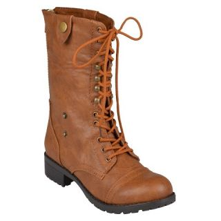 Womens Bamboo By Journee Fold Over Combat Boots