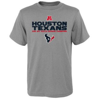 Houston Texans Youth 2015 AFC South Division Champions Next Level T Shirt   Heather Gray