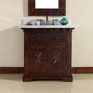 James Martin Furniture 170 V36 ANB CAR Monterey 36 Single Vanity in Antique Brandy with Carrera White Stone Top   Vanity Top Included