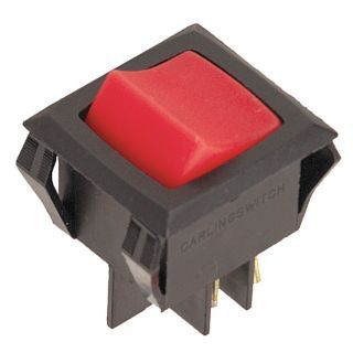 """CARLING TECHNOLOGIES Lighted Rocker Switch, Contact Form: DPST, Number of Connections: 4, Terminals: 0.250"""" Quick Connect   3XC58 LRGSCK611 RS BO/125N   Grainger"""