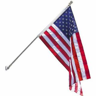 Estate Flag Set with 6' 2 Section 360 Degree White Spinning Pole and American Flag, 3' x 5', Nylon SolarGuard Nyl Glo, Model# 238